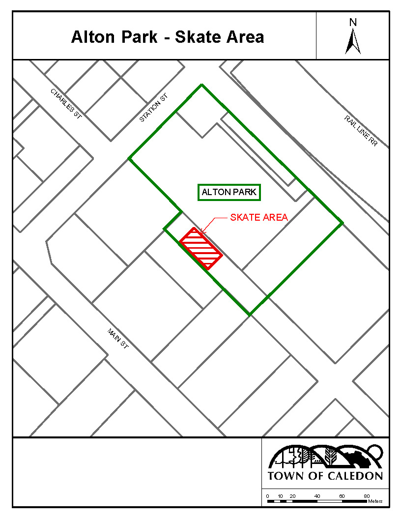 Alton Park Skate Area Location Map