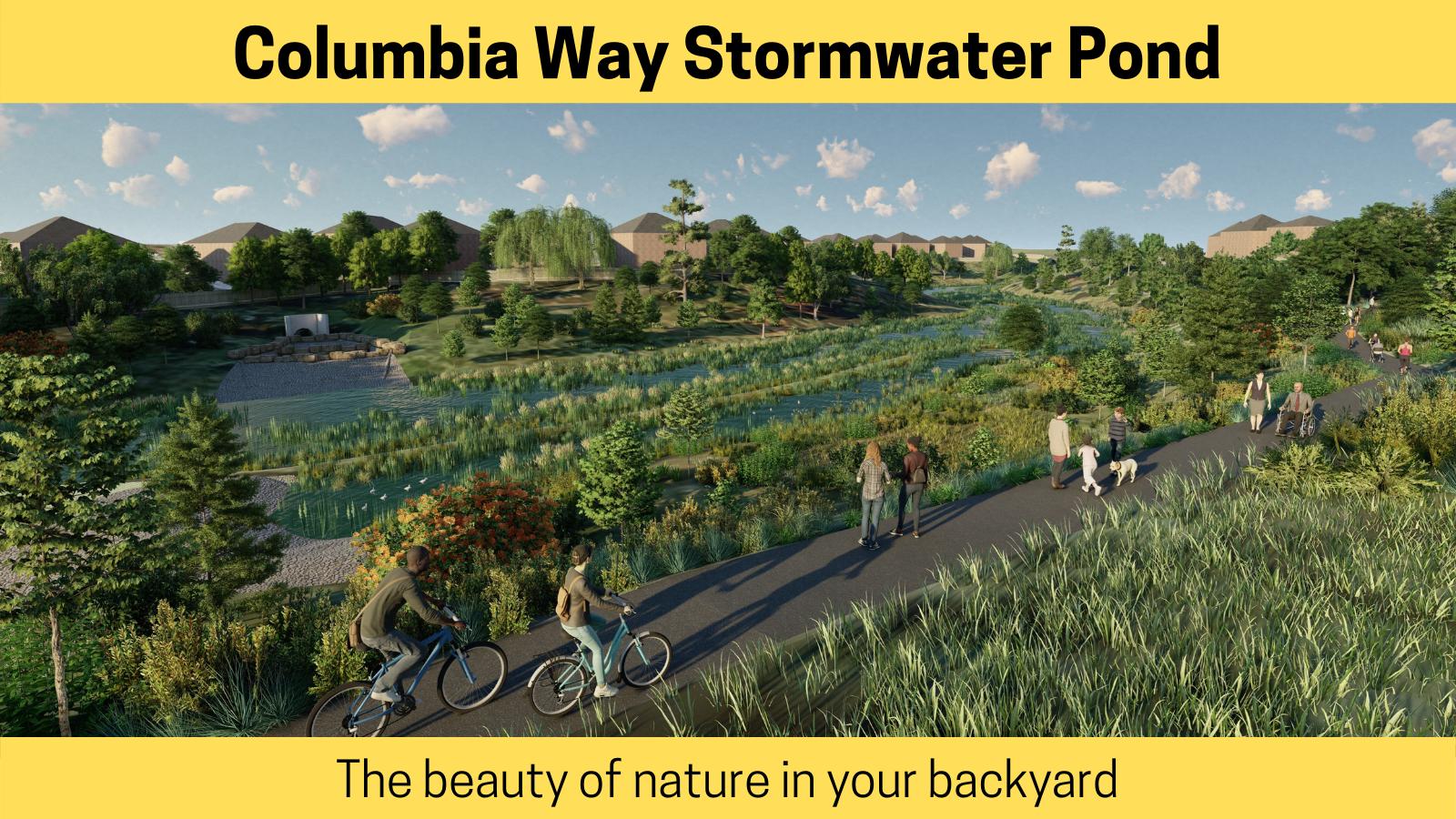 Columbia Way Stormwater Management Pond