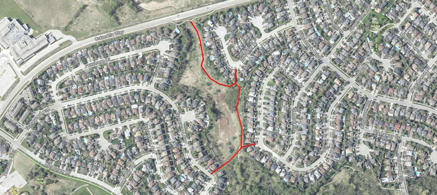 Columbia Way Trail Closure