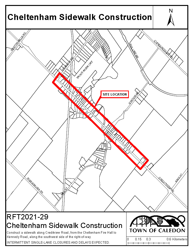 Creditview Road Location Map