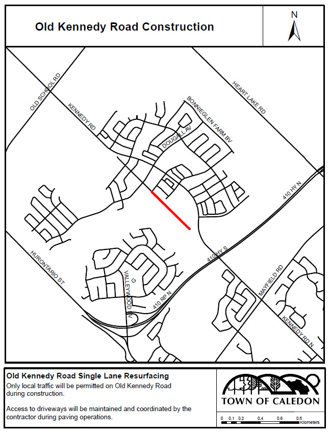 Kennedy Road Location Map
