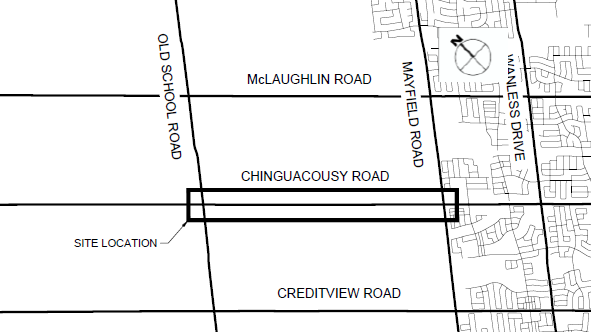 Location Map for Chingcousy Road