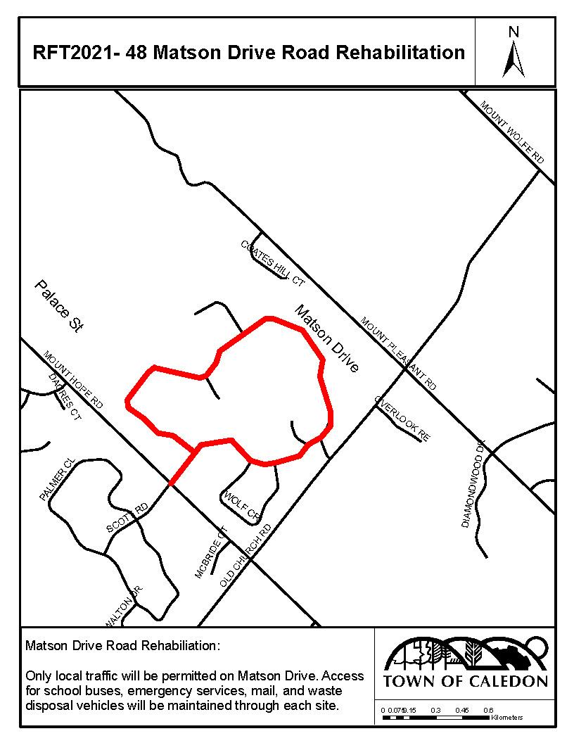 Matson Drive Location Map