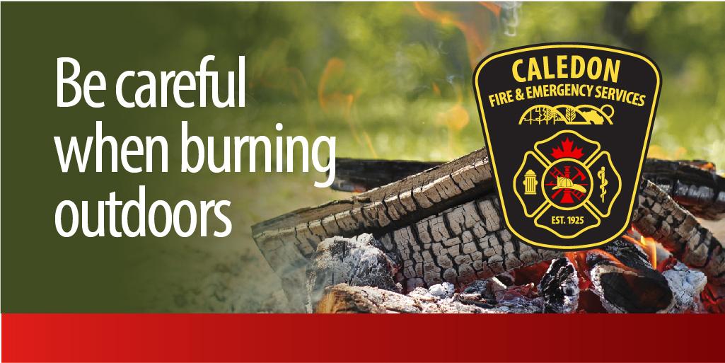 Outdoor log fire