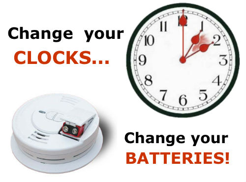 Change Your Clocks and Batteries