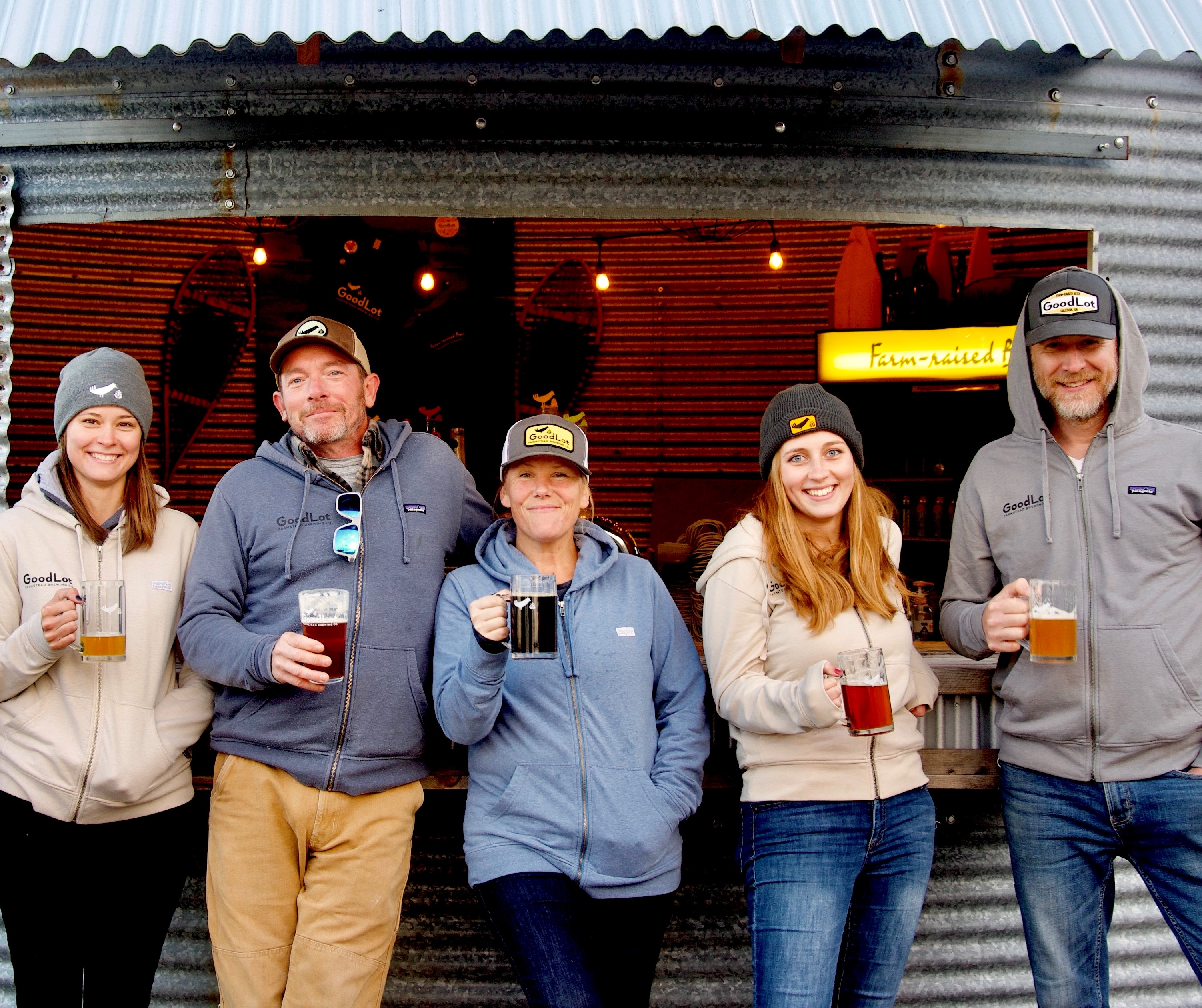 Goodlot Farmstead Brewing team