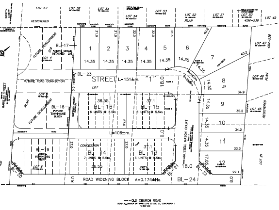 Site Plan for 6089- 6124 Old Church Road