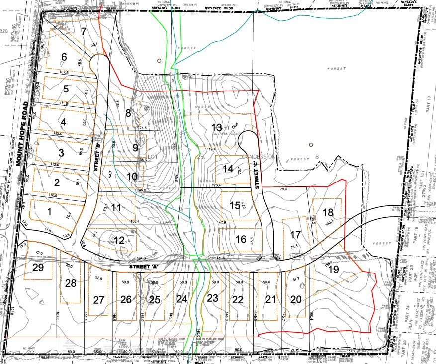 Site Plan for 0 Mount Hope Road