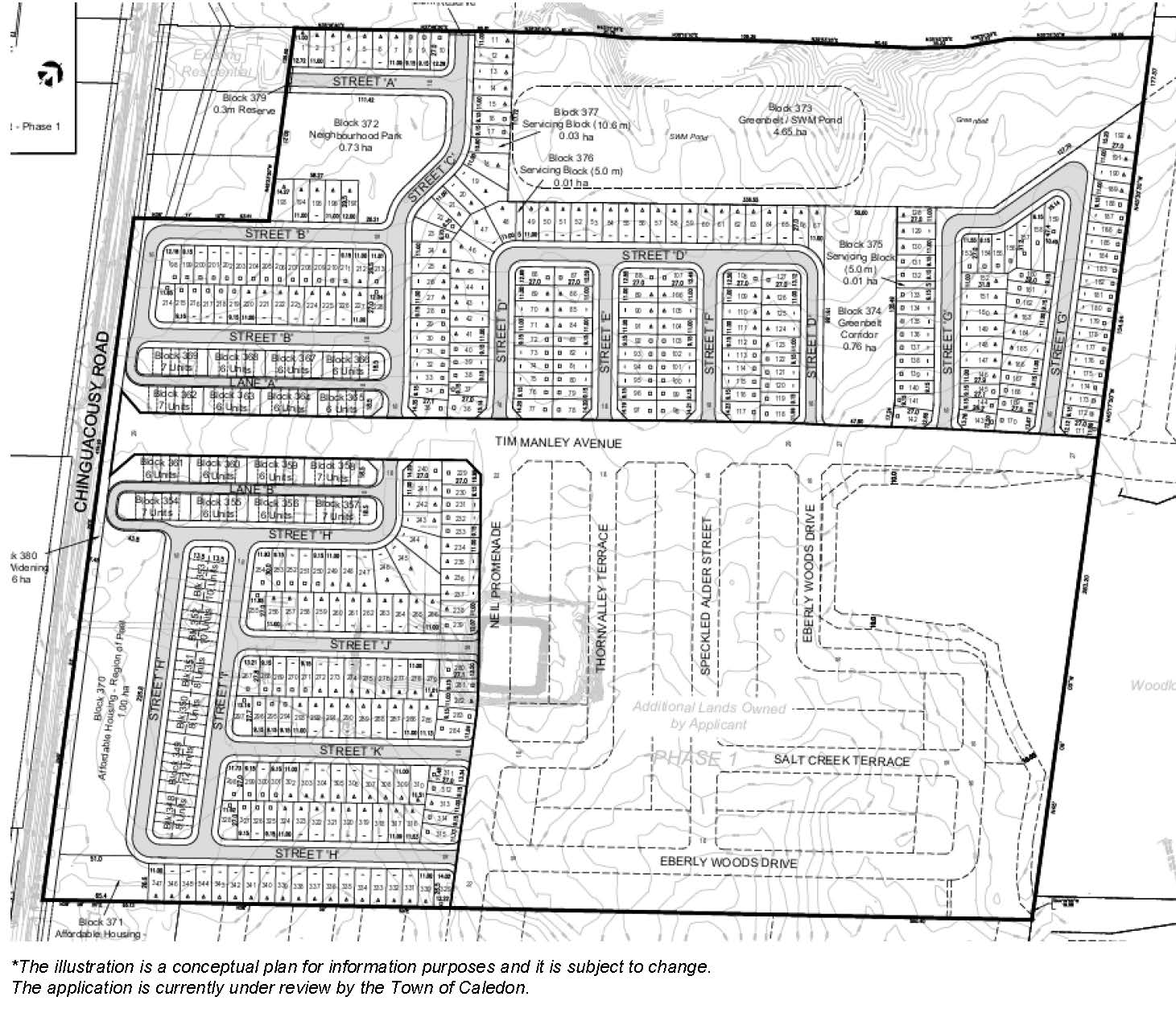Site Plan of 12259 Chinguacousy Road