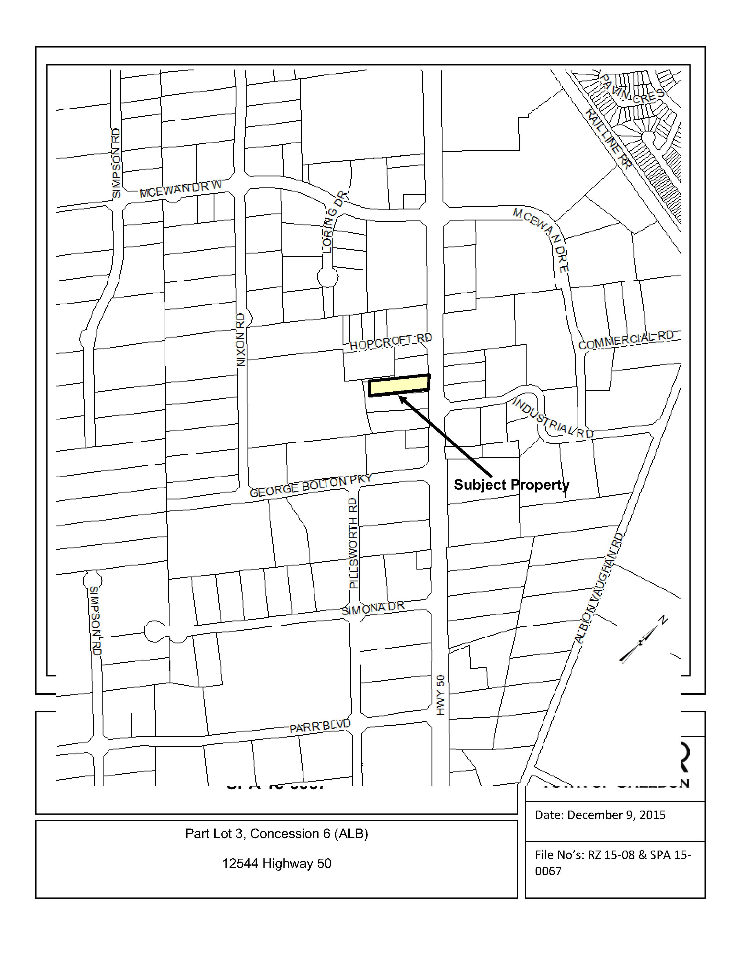 Map of Subject Property at 12544 Highway 50