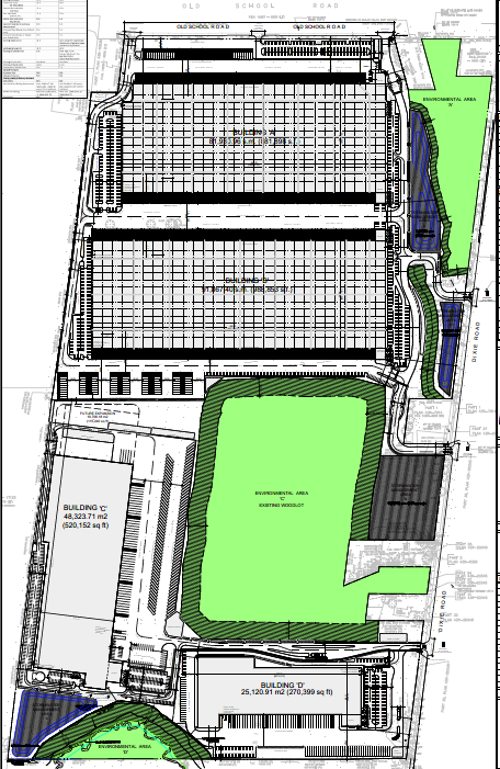 Site Plan for 12862 Dixie Road