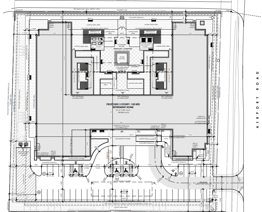Site plan for Application