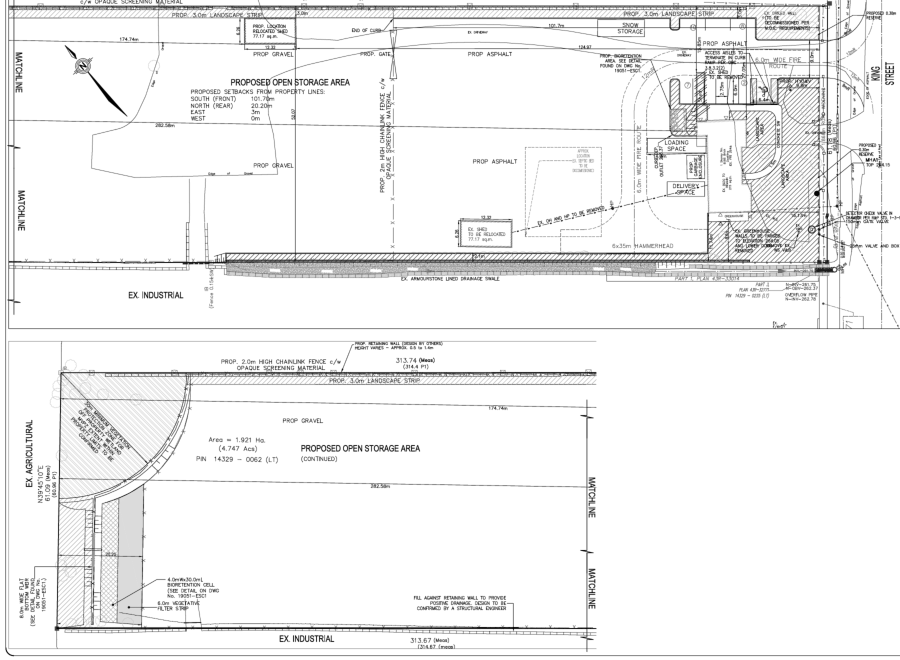 Site Plan for the Subject Property at 8186 King Street