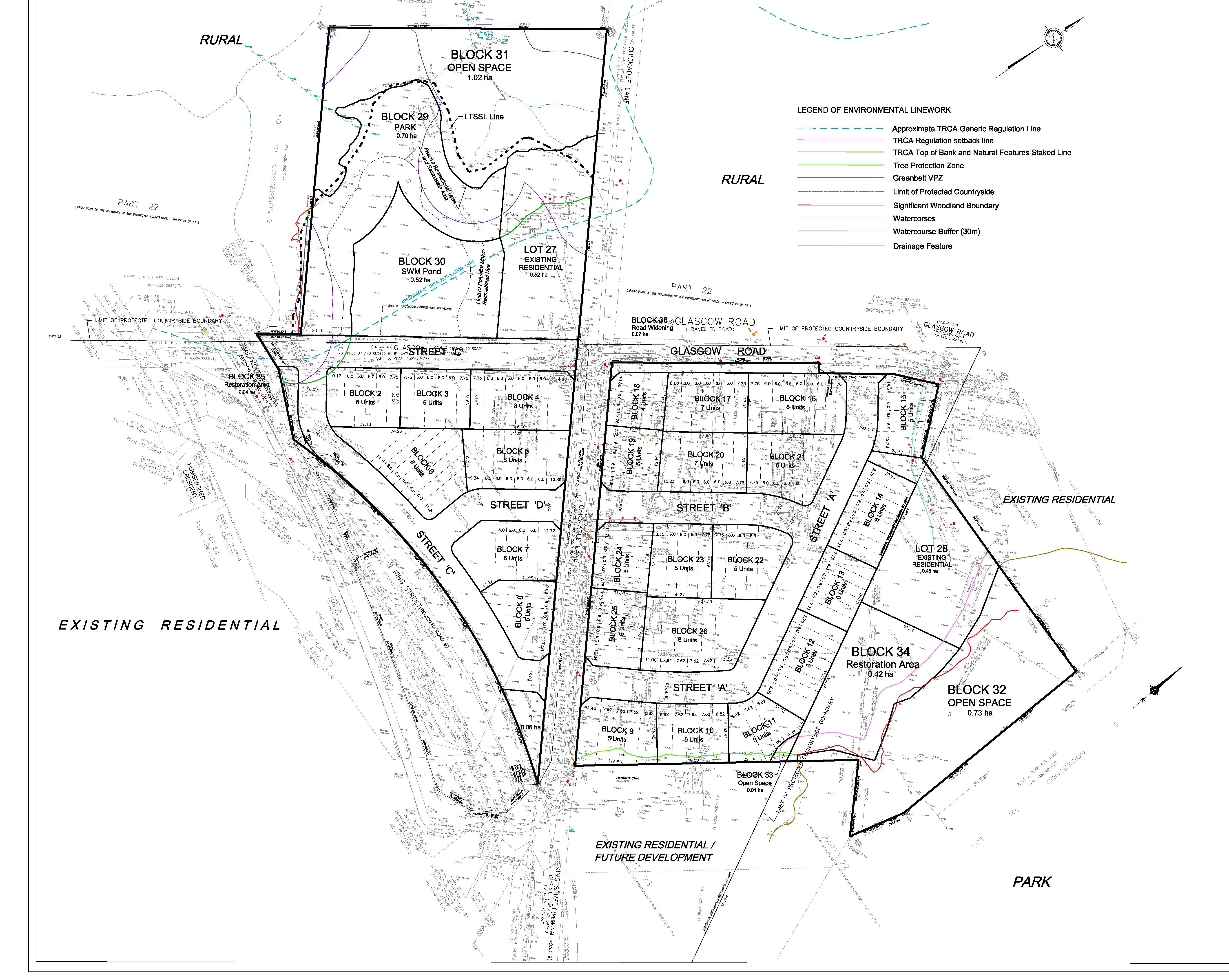 Draft Plan of Subdivision for Humphries Planning Group Inc.