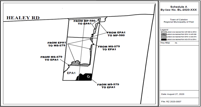 Draft Site Plan for 0 & 8281 Healey Road