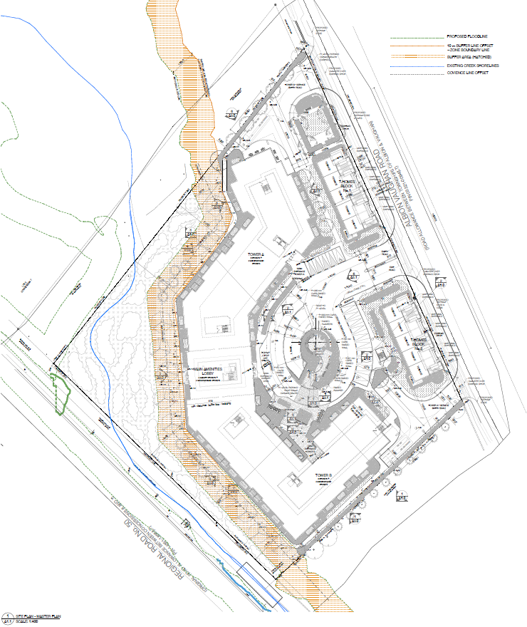 Site Plan for 12148 Albion Vaughan Road