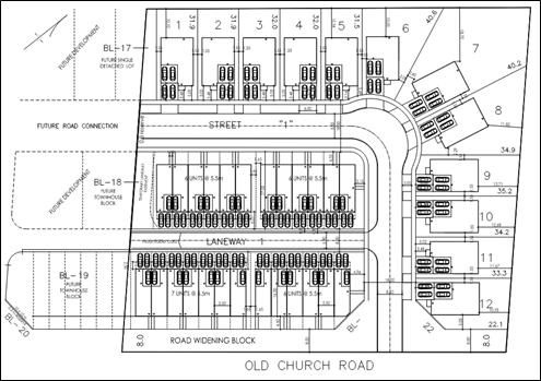 Draft Site Plan for 6110-6142 Old Church Road
